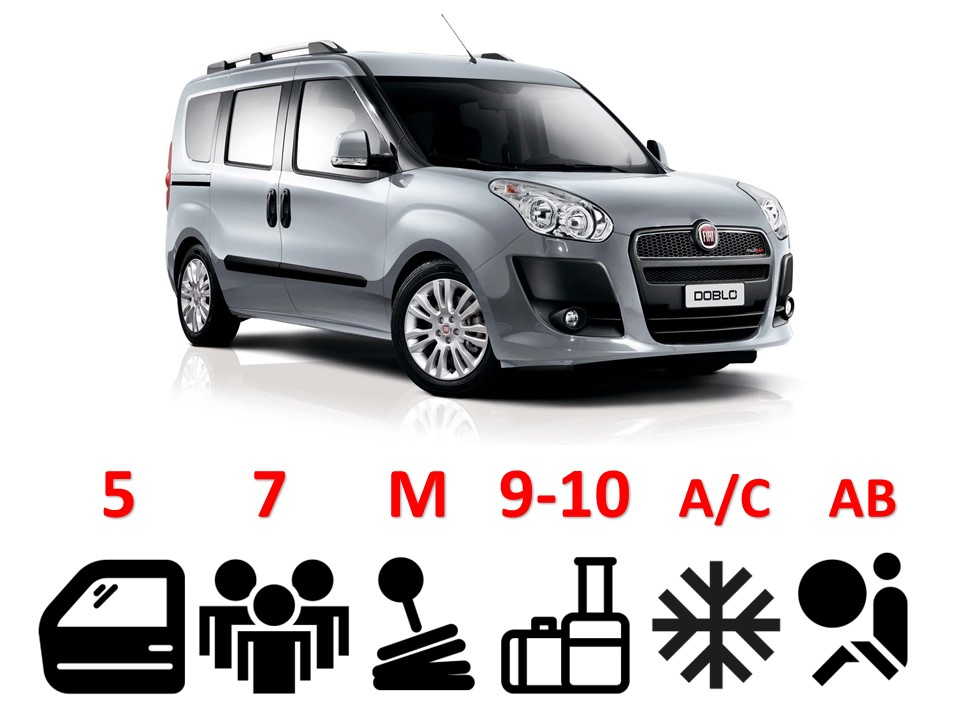 Fiat Doblo, Renault Kangoo *or similar