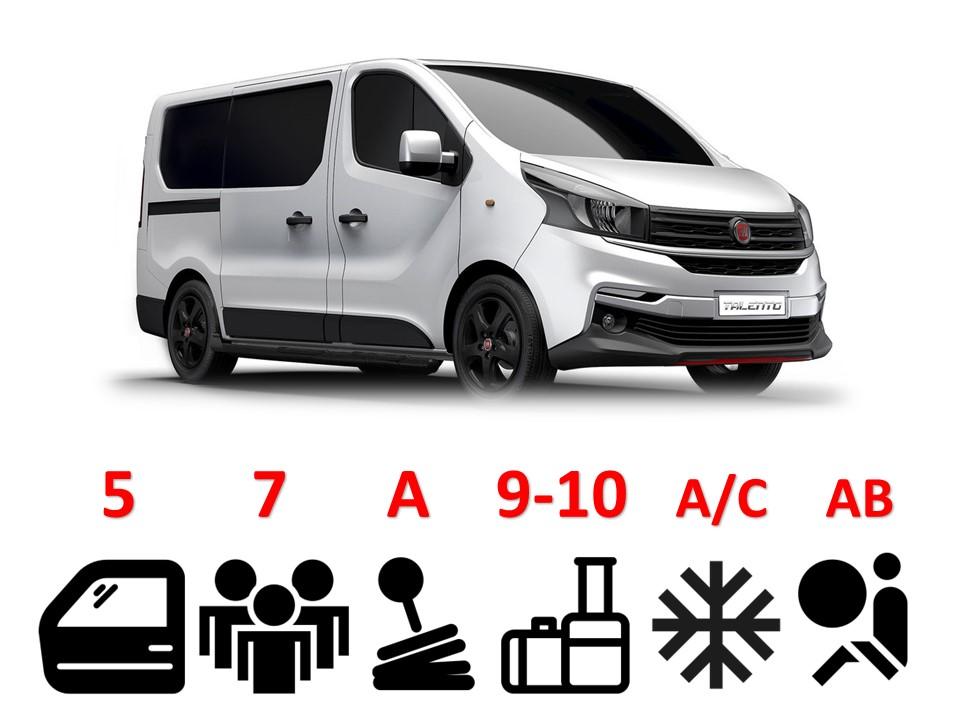 Fiat Talento, Opel Vivaro *or similar